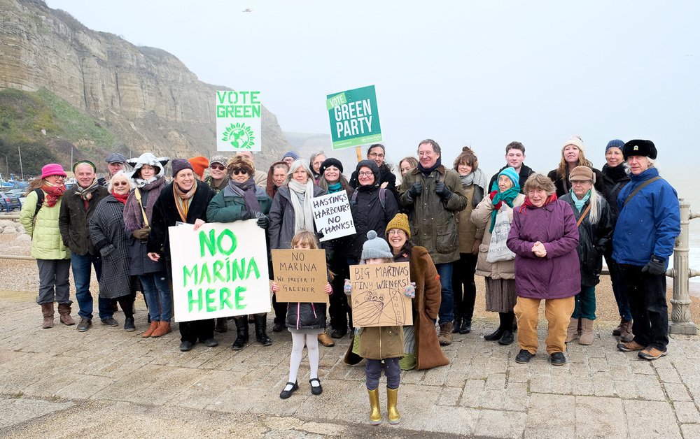 Campaigning against marina in Hastings