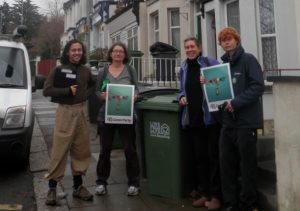 Collecting signatures for food waste petition