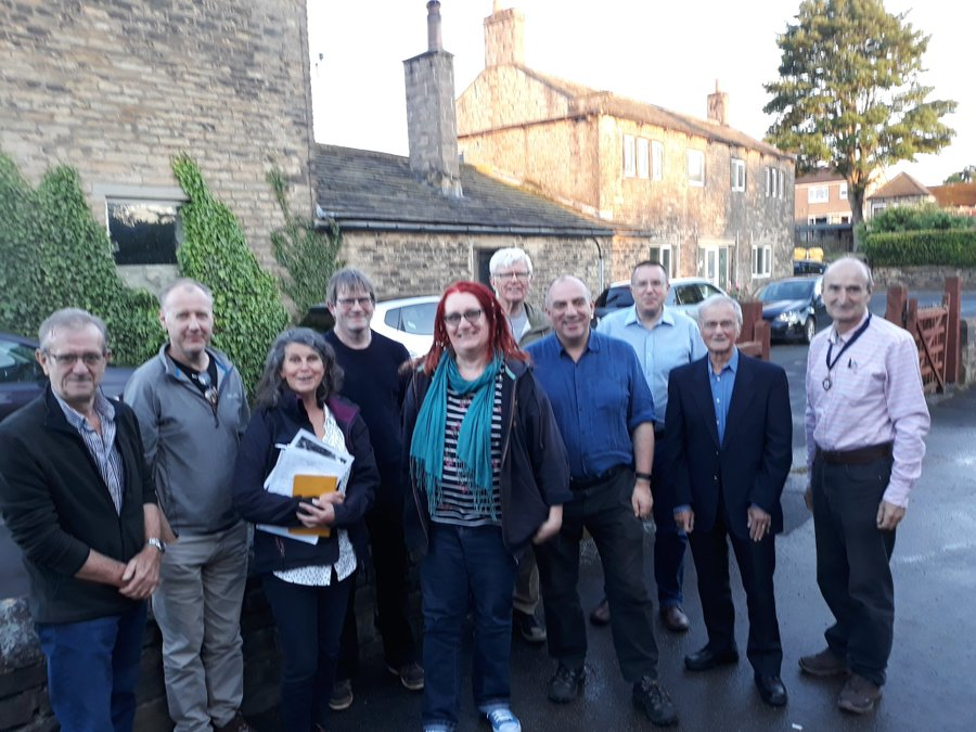 Green Party activists out in Kirkburton