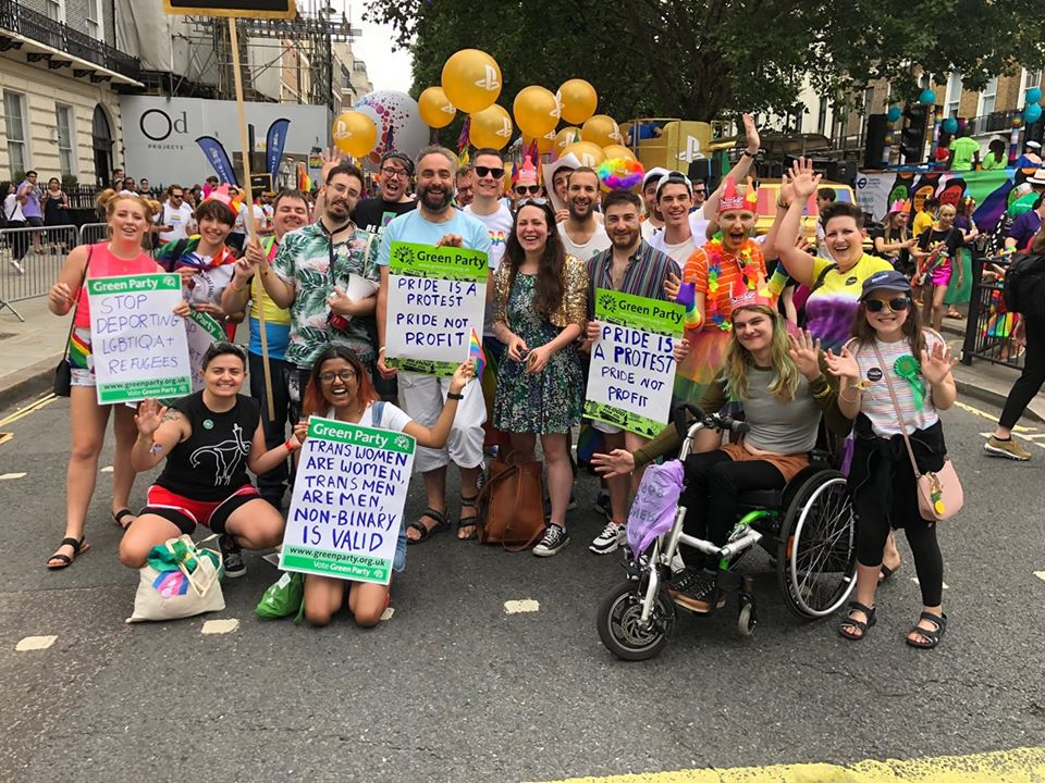LGBTIQA+ Greens at Pride