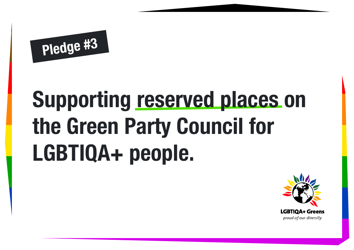 Supporting reserved places on the Green Party Council for LGBTIQA+ people