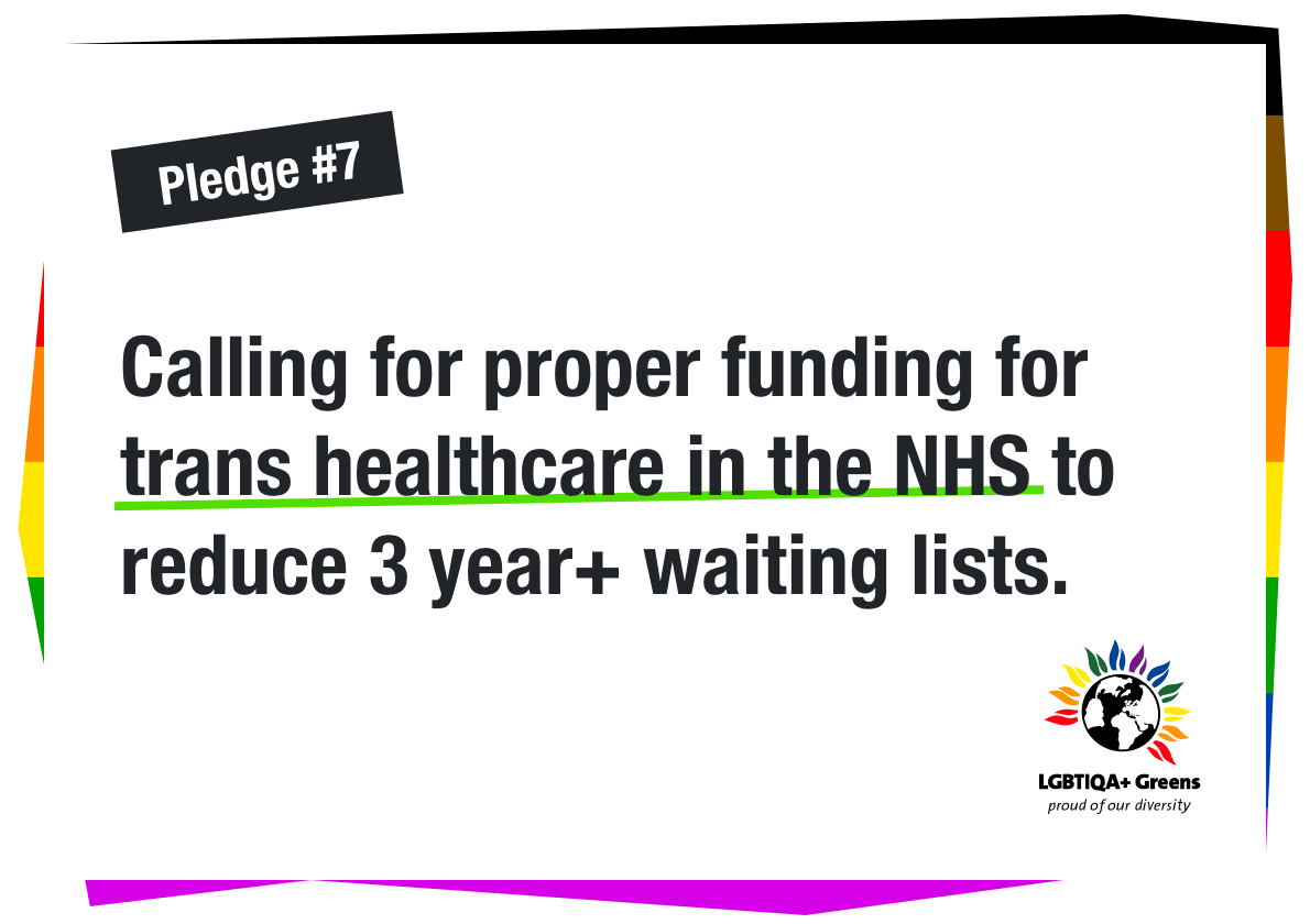 Calling for proper funding for trans healthcare in the NHS to reduce 3 year+ waiting lists