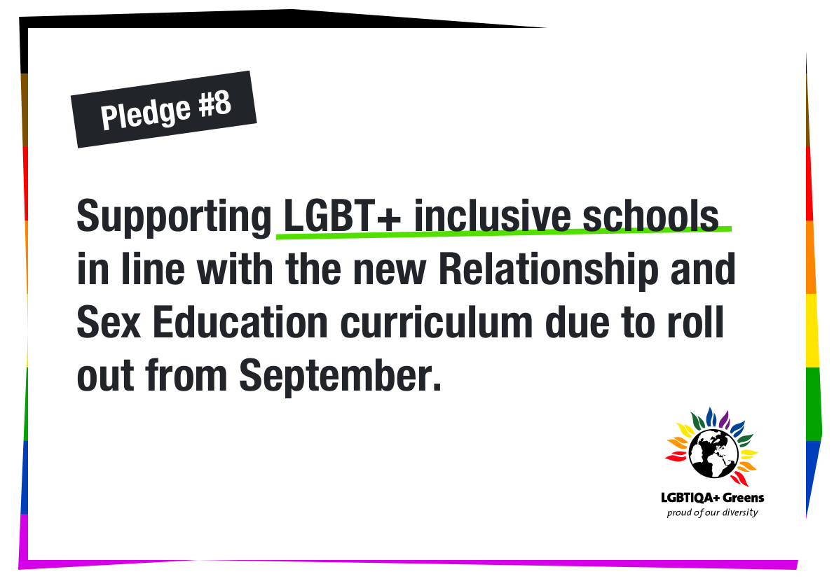 Supporting LGBT+ inclusive schools in line with the new Relationship and Sex Education curriculum due to roll out from September