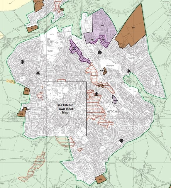 Map of Hitchin from NHDC Local P