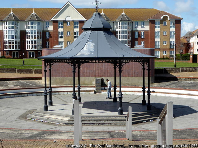 Victorian bandstand in Cliftonville