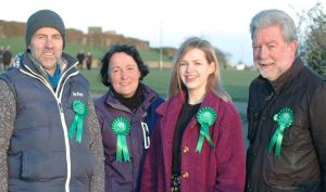 Charlotte Barton with Green local councillors