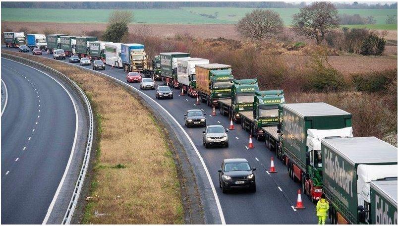 Lorry queue at Manston