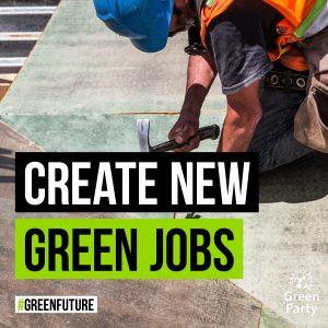 Slogan: create new green jobs