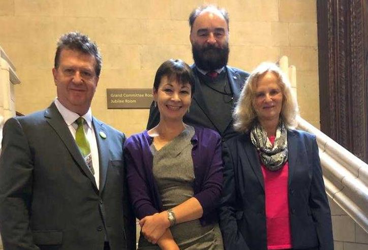 L-R: Anthony Gerard, Caroline Lucas, Paul Fairhurst and Barbara Light
